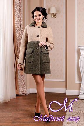 Стильное женское демисезонное двухцветное пальто (р. 44-62) арт. 1002 Тон 45, фото 2