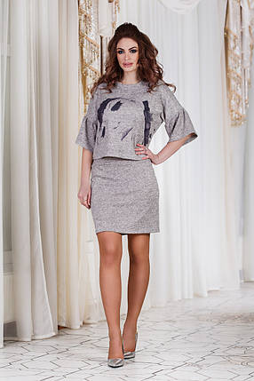 ДТ1112 Женский костюм кофта+юбка, фото 2