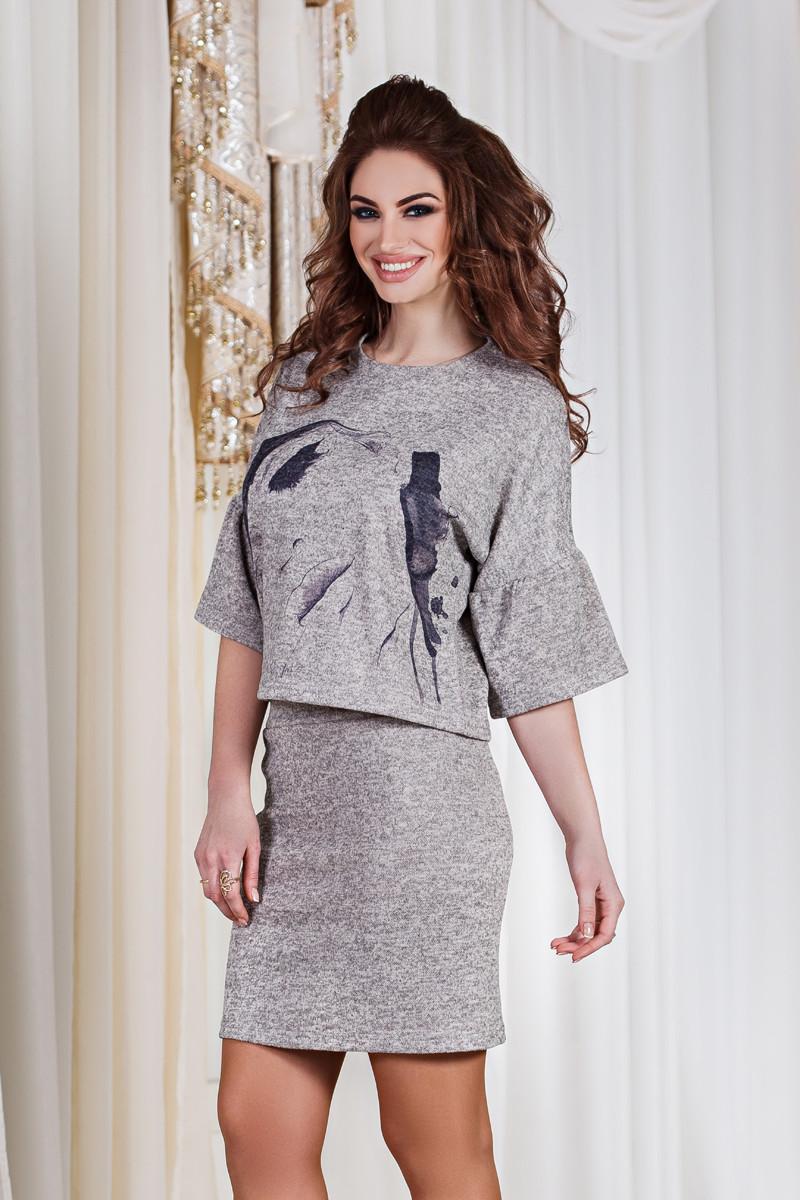 ДТ1112 Женский костюм кофта+юбка