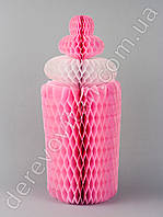 """Декор подвеска-соты """"Бутылочка"""", розовая"""