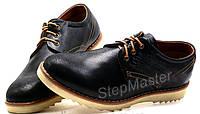 Мужские кожаные туфли Levis Desert черные