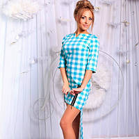 Платье с удлиненной юбкой сзади, 3 цвета
