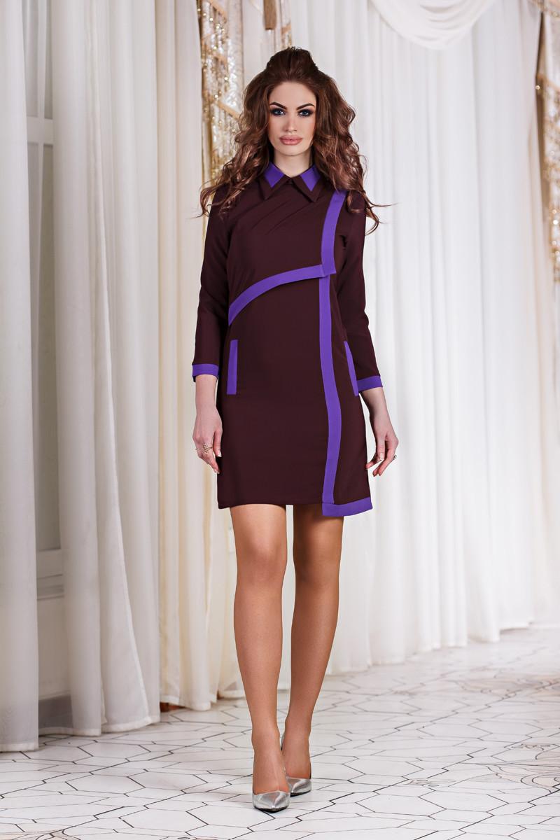 ДТ1115 Платье с яркой отделкой