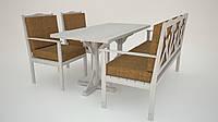 Садовая мебель из дерева - непромокаемые подушки.