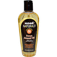 Натуральное масло сладкого миндаля, Hobe Labs, 118 мл