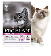Purina Pro Plan Delicate 10 кг -корм для кошек с индейкой