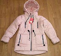 Детская весенняя курточка-парка  для девочек