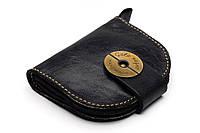 Кожаный кошелек ручной работы Gato Negro Domic женский, черный (женские кошельки из натуральной кожи)
