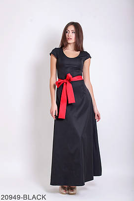 Жіноче вечірнє чорне плаття-максі Julia
