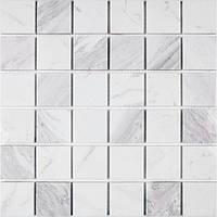 Мозаика на сетке натуральный мрамор Bianco Carrara Vivacer SPT25
