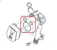 Прокладки масляного радиатора (теплообменника) 3 шт. KANGOO 1.5DCI оригинал. 7701475118
