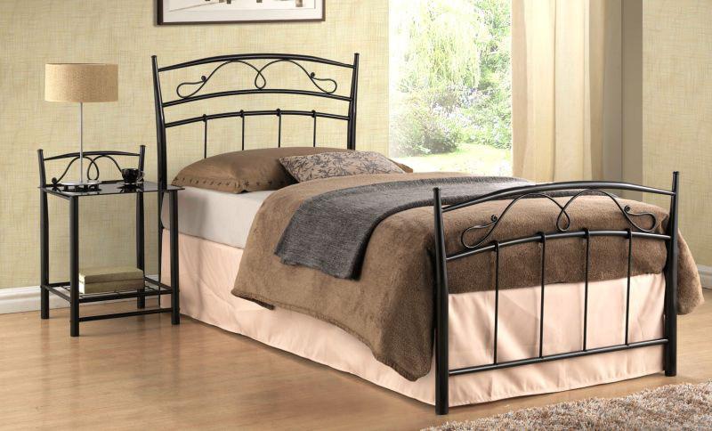 Кровать Siena черная 90*200 (Signal TM) - АБВ мебель в Днепре