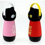 Термос Кот в наушниках, 4 цвета, фото 2
