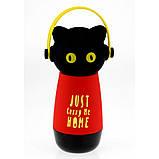 Термос Кот в наушниках, 4 цвета, фото 3