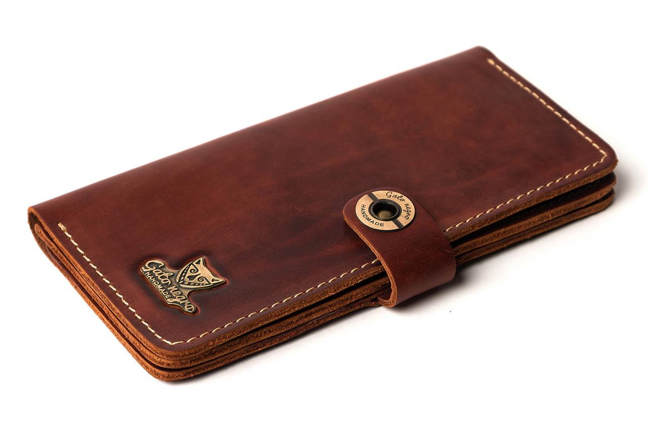 488ece97713c Кожаный кошелек ручной работы Gato Negro Alfa One мужской, коричневый (мужские  кошельки из натуральной кожи)