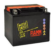 Мотоаккумулятор Fiamm 12 вольт 10 ампер для вашей техники, размер 150х87х130  FTX12-BS