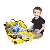 Детский чемоданчик на колесах TRUNKI TONY THE TAXI , фото 3
