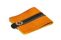 Кожаный кошелек ручной работы Gato Negro Zeta-Clip мужской, рыжий (мужские кошельки из натуральной кожи)