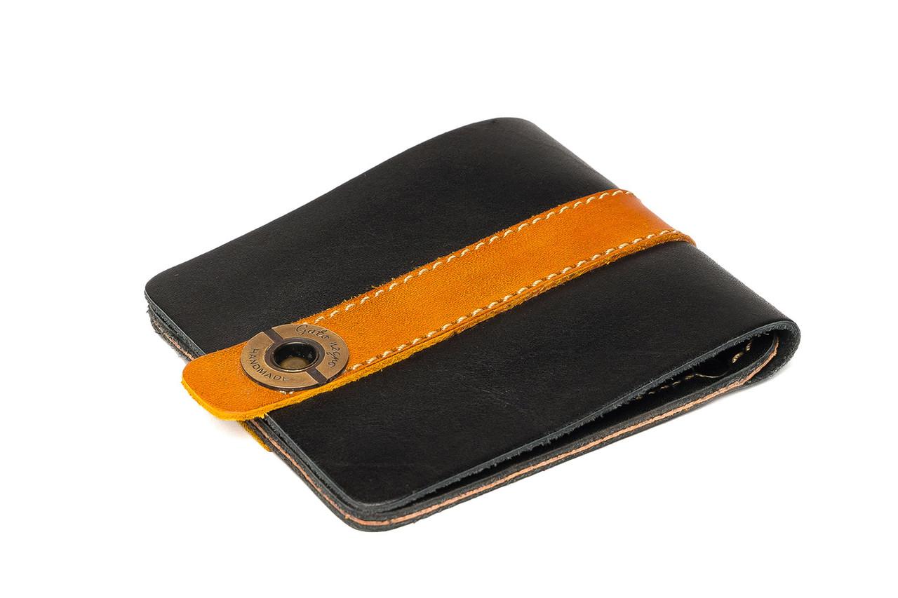 789817bcb4a3 Кожаный кошелек ручной работы Gato Negro Zeta-Clip мужской, черный (мужские  кошельки из натуральной кожи)