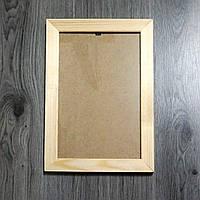 Рамка деревянная плоская под отделку 20мм. Размер, см.  13*13