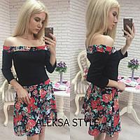 Стильное яркое женское платье д-52032607