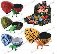 Растущее животное 447-12 (1398926), Динозавры в яйце, 4 цвета, 12 штук в боксе, море впечатлений обеспечено