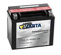 Аккумулятор для мотоциклов и скутеров 10AH-12V VARTA FS AGM (YTX12-4, YTX12-BS), (152X88X131), L, Y5, EN90