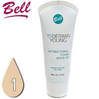 Bell - Derma Young 15+ Флюид матирующий антибактериальный для лица Тон 01 light beige, светлый беж