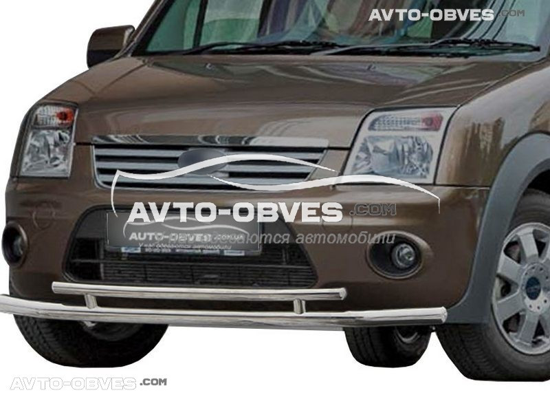 Подвійний захист переднього бампера Ford Connect 2002-2014
