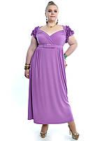 Женское Платье с оригинальными рюшами на плече арт 390 (48-74)