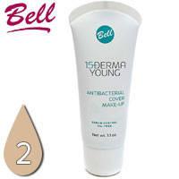 Bell - Derma Young 15+ Флюид матирующий антибактериальный для лица Тон 02 beige, беж