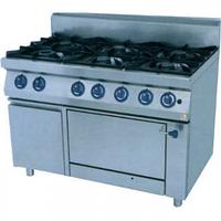 Плита газовая 6-конфорочная с духовкой PS-T67/1-0 KOVINASTROY. Оборудование для ресторанов, кафе, фаст-фудов