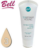 Bell - Derma Young 15+ Флюид матирующий антибактериальный для лица Тон 03 natural, натуральный