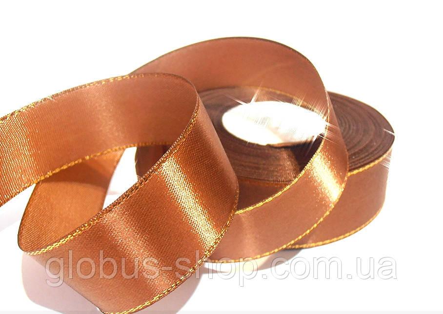 Лента люрекс 2,5  см Цвет коричневый