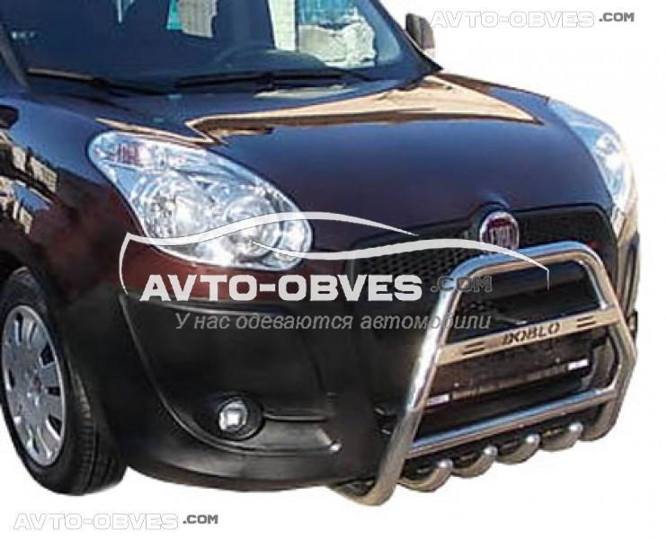 Кенгурятник для Fiat Doblo 2010-2014-... с логотипом