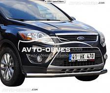 Прямой ус для Ford Kuga нержавейка (п.к. V001)