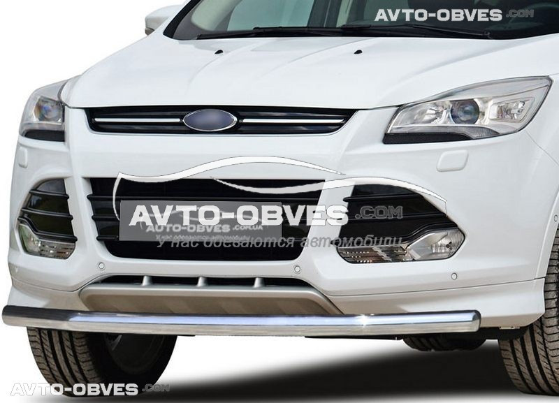 Защита бампера для Ford Kuga 2013-2016 одинарная (п.к. V001)