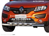 Двойная защита переднего бампера для Renault Sandero Stepway 2013-…