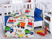 Детский комплект постельного белья для новорожденных в кроватку,в коробке, ранфорс,Cotton Box Santiye, Турция