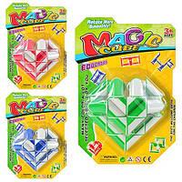 Игра 777 головоломка, змейка, 3 цвета, на листе, 27-18-7см 57083 Ч