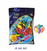 """Воздушные шарики ассорти пастель 8"""" (21 см) латексные круглые шарики"""
