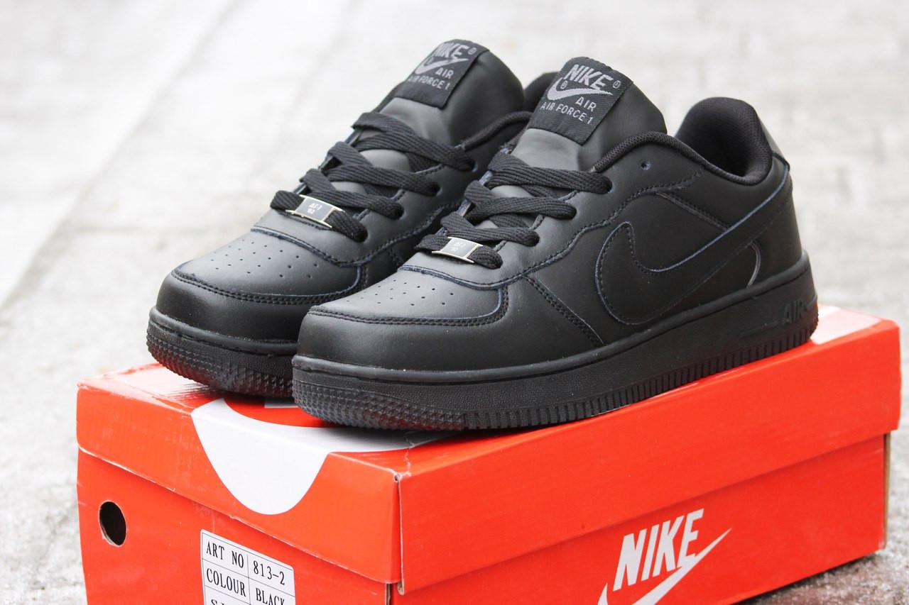 Мужские кроссовки Nike Air Force черные 41,44р