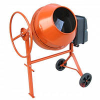 Бетономешалка на колесах для дома 140 литров Forte 140 ЛН NEW ОРАНЖЕВАЯ