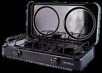 Газовая плита двухконфорочная ЭЛНА ПГ2-Н с крышкой Купить Цена