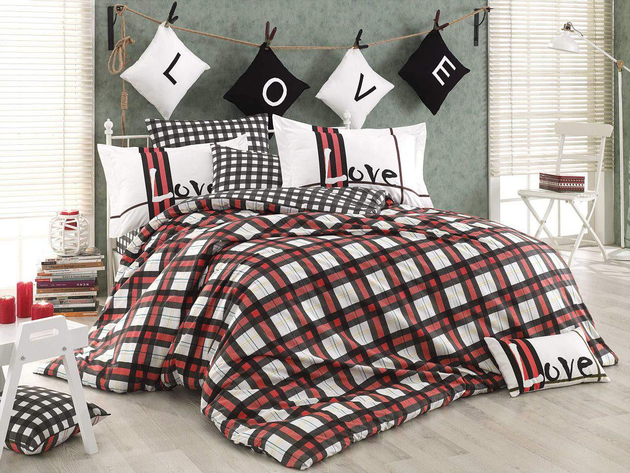 Подростковый постельный комплект Love Code (Red), Hobby