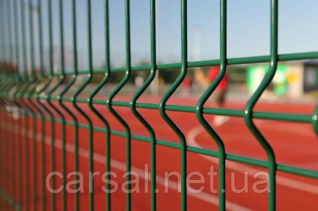 Сетка сварная оцинкованная с полимерным покрытием Рубеж 2,2. Сетчатый забор.