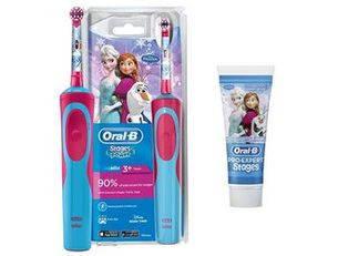 Щетка BRAUN D 12 KIDS FROOZEN + зубная паста