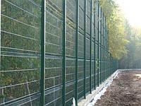 Сетка сварная оцинкованная с полимерным покрытием Рубеж 3/4 2,4.Забор  ограждение.