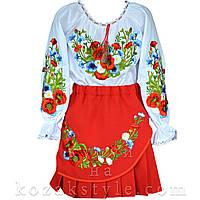 Український костюм на дівчинку Лугові квіти