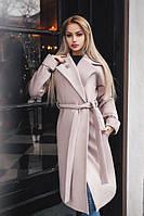 Пальто женское кашемировое на запах P5522, фото 1